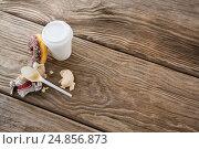 Купить «Leftover doughnut and macaroon with coffee», фото № 24856873, снято 15 сентября 2016 г. (c) Wavebreak Media / Фотобанк Лори