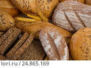Купить «Various bread loaves», фото № 24865169, снято 20 сентября 2016 г. (c) Wavebreak Media / Фотобанк Лори