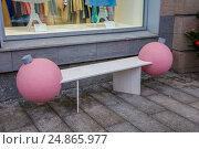 Дизайнерская скамейка (2017 год). Редакционное фото, фотограф Краснова Ирина / Фотобанк Лори