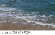Купить «Набегающие волны тропического моря», видеоролик № 24867029, снято 26 сентября 2015 г. (c) Евгений Ткачёв / Фотобанк Лори