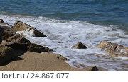 Купить «Морской прибой. Набегающие волны тропического моря», видеоролик № 24867077, снято 26 сентября 2015 г. (c) Евгений Ткачёв / Фотобанк Лори