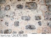Купить «Old stone wall, detailed background texture», фото № 24870905, снято 11 января 2017 г. (c) EugeneSergeev / Фотобанк Лори