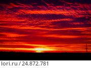 Купить «Закатное небо», фото № 24872781, снято 13 июля 2020 г. (c) Хайрятдинов Ринат / Фотобанк Лори