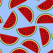 Wallpaper juicy summer watermelon slices on a white background.T, иллюстрация № 24872885 (c) Мастепанов Павел / Фотобанк Лори