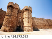 Купить «Rhodes famous Knights Grand Master Palace, Greece», фото № 24873593, снято 26 июля 2015 г. (c) Сергей Новиков / Фотобанк Лори
