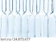 Купить «Empty glass bottles arranged chess-board fashion», фото № 24873677, снято 5 января 2016 г. (c) Сергей Новиков / Фотобанк Лори