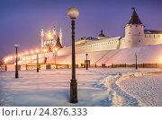 Зимний Казанский кремль. Winter Kazan Kremlin (2012 год). Стоковое фото, фотограф Baturina Yuliya / Фотобанк Лори
