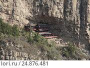 Храмы на горе Хэншань, провинция Шаньси, Китай (2015 год). Стоковое фото, фотограф Vladislav Osipov / Фотобанк Лори