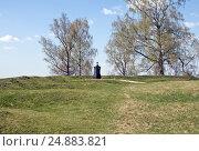 Купить «Могила генерала Д.П.Неверовского», фото № 24883821, снято 1 мая 2016 г. (c) Михаил Феоктистов / Фотобанк Лори
