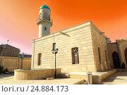Джума-мечеть Гейдара в поселке Мардакан Хазарского района. Открыта в 1893 году. Баку. Азербайджан, фото № 24884173, снято 26 сентября 2015 г. (c) Евгений Ткачёв / Фотобанк Лори