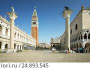 Купить «Piazza San Marko, Venice, Italy», фото № 24893545, снято 18 мая 2015 г. (c) Iakov Kalinin / Фотобанк Лори