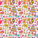 Birthday background with symbols of a holiday, иллюстрация № 24895253 (c) Миронова Анастасия / Фотобанк Лори