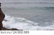 Купить «Atlantic rocky coast, Algarve, Portugal», видеоролик № 24900989, снято 16 января 2017 г. (c) Юрий Брыкайло / Фотобанк Лори