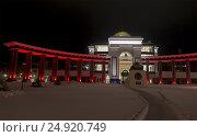 Купить «Музей боевой славы мемориала Победы в Южно-Сахалинске», фото № 24920749, снято 17 января 2017 г. (c) Максим Гулячик / Фотобанк Лори