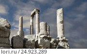 Купить «Amman city landmarks-- old roman Citadel Hill, Jordan», видеоролик № 24923289, снято 21 января 2017 г. (c) Владимир Журавлев / Фотобанк Лори