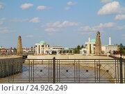 Грозный, Чечня. Река Сунжа у дворца президента Чечни (2013 год). Стоковое фото, фотограф A Челмодеев / Фотобанк Лори