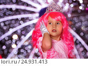 Купить «Beautiful little girl as a princess with pink hair», фото № 24931413, снято 4 января 2017 г. (c) Александр Волков / Фотобанк Лори