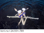 Купить «Underwater view of Synchronized Swimming», фото № 24931789, снято 15 января 2017 г. (c) Некрасов Андрей / Фотобанк Лори
