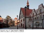 Купить «Город-курорт Светлогорск, Калининградская область, Гостиный двор», эксклюзивное фото № 24931993, снято 10 января 2017 г. (c) Svet / Фотобанк Лори