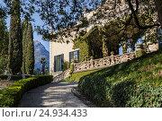 Купить «Italy, Lombardy, Como district. Como Lake, Villa del Balbianello.», фото № 24934433, снято 26 мая 2020 г. (c) age Fotostock / Фотобанк Лори