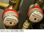 Купить «Приборы учета потребления воды», фото № 24946585, снято 29 октября 2012 г. (c) Сергеев Валерий / Фотобанк Лори
