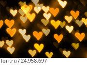 Купить «St Valentines Day heart bokeh background», фото № 24958697, снято 13 января 2017 г. (c) Зезелина Марина / Фотобанк Лори