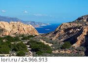 Rocky coastline of Cabo de Gata-Nijar Natural Park. Spain (2016 год). Стоковое фото, фотограф Alexander Tihonovs / Фотобанк Лори