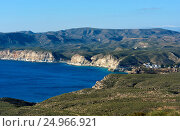 Rocky coastline of Agua Amarga. Spain (2016 год). Стоковое фото, фотограф Alexander Tihonovs / Фотобанк Лори
