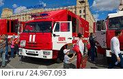 Купить «Выставка пожарных машин.Волгоград.», фото № 24967093, снято 10 сентября 2016 г. (c) Кургузкин Константин Владимирович / Фотобанк Лори