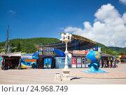 Купить «Курорты Краснодарского края. Село Архипо-Осиповка, вид на дельфинарий», фото № 24968749, снято 27 мая 2013 г. (c) SummeRain / Фотобанк Лори