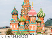 Fragment view of Saint Basil's Cathedral (2015 год). Стоковое фото, фотограф Юрий Губин / Фотобанк Лори