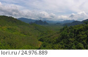 Aerial view on Rainforest of Khao Sok in Thailand (2017 год). Стоковое видео, видеограф Михаил Коханчиков / Фотобанк Лори