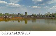 Купить «Angkor Wat temple in Siem Reap, Cambodia», видеоролик № 24979837, снято 7 декабря 2016 г. (c) Михаил Коханчиков / Фотобанк Лори