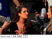Купить «Celebrities watch the Los Angeles Lakers play The Golden State Warriors Featuring: Lea Michele Where: Los Angeles, California, United States When: 05 Jan 2016 Credit: WENN.com», фото № 24986737, снято 5 января 2016 г. (c) age Fotostock / Фотобанк Лори