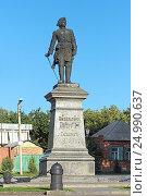 Купить «Памятник Петру I в Таганроге», фото № 24990637, снято 25 сентября 2011 г. (c) Михаил Марковский / Фотобанк Лори