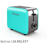 Купить «Vintage toaster isolated on white 3D illustration», иллюстрация № 24992817 (c) Hemul / Фотобанк Лори