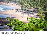 Купить «Индия, Северный Гоа. Вид на пляж Анджуна», фото № 24993217, снято 19 января 2017 г. (c) Павел Сапожников / Фотобанк Лори
