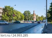 Купить «Солевая круглая башня Симонова монастыря», эксклюзивное фото № 24993285, снято 30 июня 2012 г. (c) Владимир Чинин / Фотобанк Лори