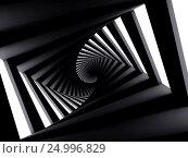 Купить «Abstract dark twisted spiral corridor», иллюстрация № 24996829 (c) EugeneSergeev / Фотобанк Лори