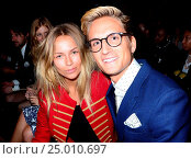 London Collections: Men A/W 2016 - Joshua Kane - Front row at Christ Church Spitalfields Featuring: Emma Lou Connolly, Oliver Proudlock Where: London,... Редакционное фото, фотограф Joe Alvarez / age Fotostock / Фотобанк Лори