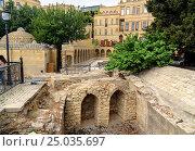 Купить «Remains of the Church of St Batholomew in Old city, Icheri Sheher. Baku», фото № 25035697, снято 10 сентября 2016 г. (c) Elena Odareeva / Фотобанк Лори