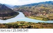 Купить «The confluence of the rivers Kura and Aragvi (Mtskheta) in Georgia», фото № 25049541, снято 25 сентября 2016 г. (c) Юрий Губин / Фотобанк Лори