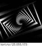 Купить «Abstract black twisted spiral corridor», иллюстрация № 25055173 (c) EugeneSergeev / Фотобанк Лори