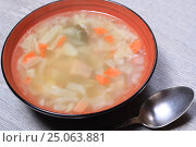 Купить «Суп», эксклюзивное фото № 25063881, снято 2 февраля 2017 г. (c) Яна Королёва / Фотобанк Лори