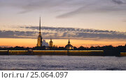 Saint Petersburg View Of The Peter And Paul Fortress Time Lapse Photography (2016 год). Стоковое видео, видеограф Владимир Ковальчук / Фотобанк Лори