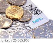 Купить «Пластиковая карта МИР НСПК», фото № 25065965, снято 5 февраля 2017 г. (c) SevenOne / Фотобанк Лори