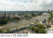 Река Майн. Франкфурт (2013 год). Стоковое фото, фотограф Юрий Леденцов / Фотобанк Лори