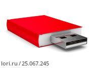 Купить «ebook on white background. Isolated 3D image», иллюстрация № 25067245 (c) Ильин Сергей / Фотобанк Лори