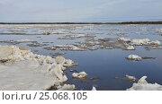 Купить «Time-lapse photography ice drift on the Siberian river», видеоролик № 25068105, снято 29 июля 2016 г. (c) Владимир Ковальчук / Фотобанк Лори