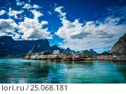 Купить «Lofoten archipelago islands Norway», фото № 25068181, снято 2 июля 2016 г. (c) Андрей Армягов / Фотобанк Лори